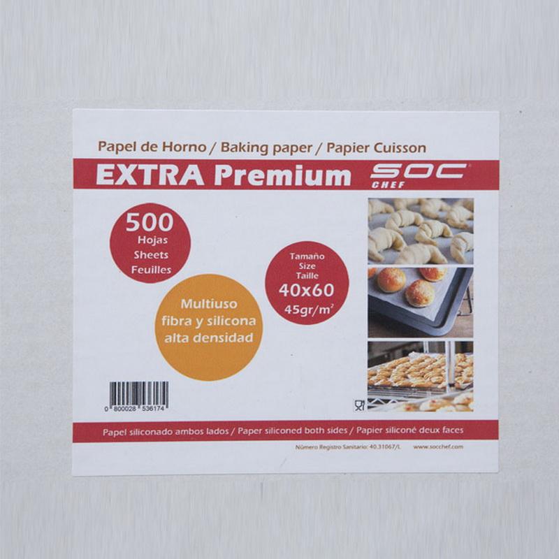 1 caja 500 hojas Papel horno bisiliconado Extra PREMIUM   60x40cm de 45gr