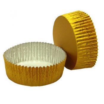 2500 Cápsulas aluminio  oro cuadrada 35×35