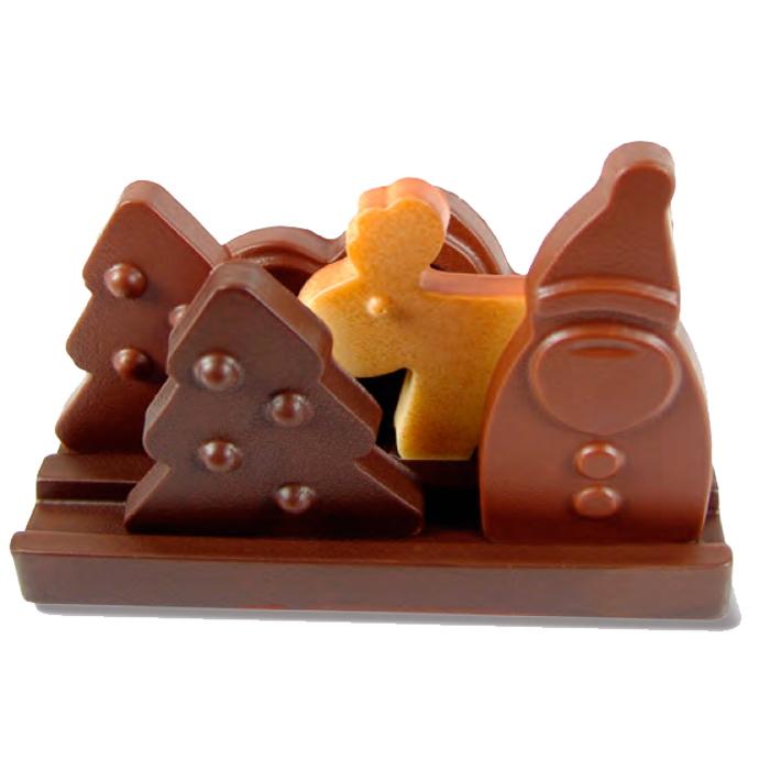 Kit Navidad Choco paisaje 140x72x115 (h) mm - 2 kit cada caja