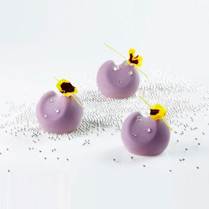 MOON - Molde negro en silicona mm 300x400 - forma en 3D - en cajas Pavoni