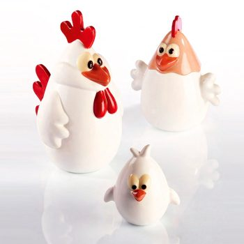 Kit Chicken Family para hacer 3 figuras en chocolate completas