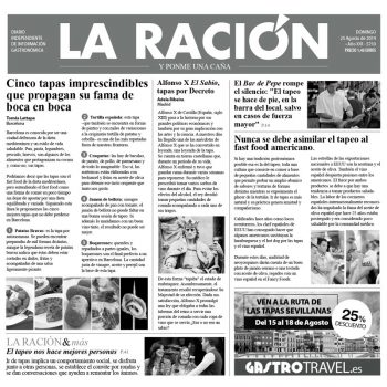"""PAPEL PERIÓDICO """"LA RACIÓN"""" – 100% CHEF"""