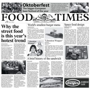 "PAPEL PERIÓDICO ""FOOD TIMES"" – 100% CHEF"