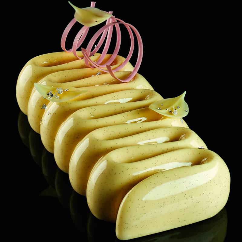 3D Molde para tarta Honoré 230x105x h 45mm en caja Pavoni