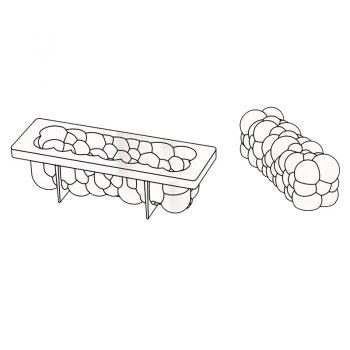 3D Molde para tarta Atomic 250x80x h 80mm en caja Pavoni
