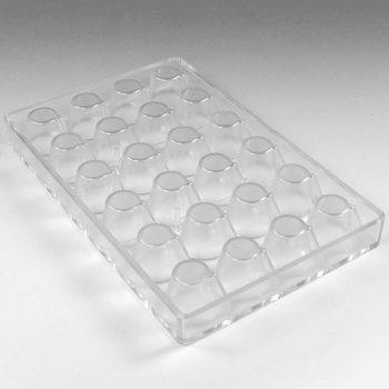 POLYCARBONATE MOULD MINICHOCOFILL SMALL GLASS 24 PCS