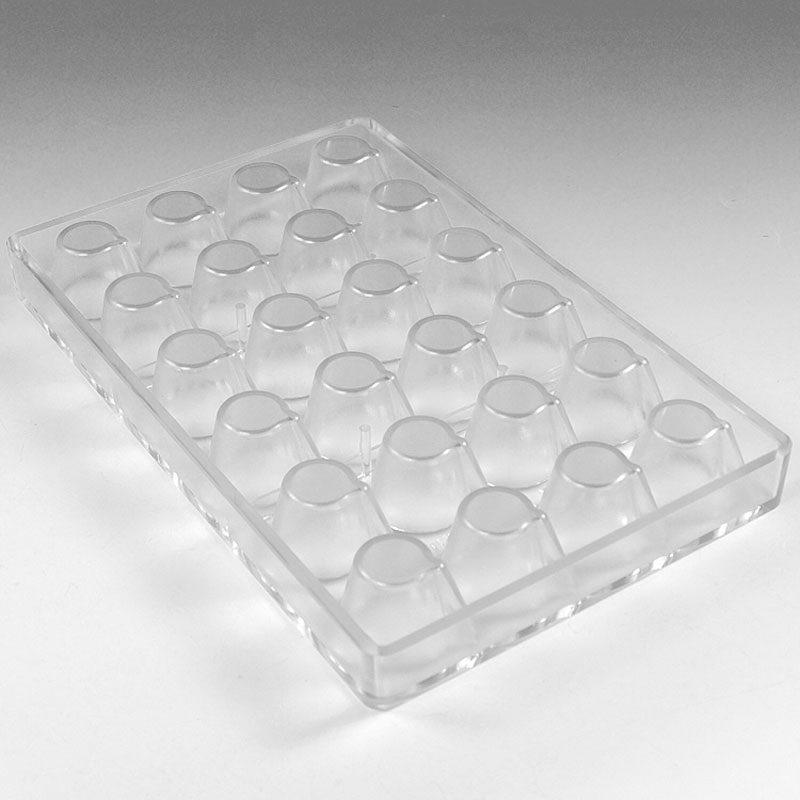 POLYCARBONATE MOULD MINICHOCOFILL SMALL GLASS 24 PCS