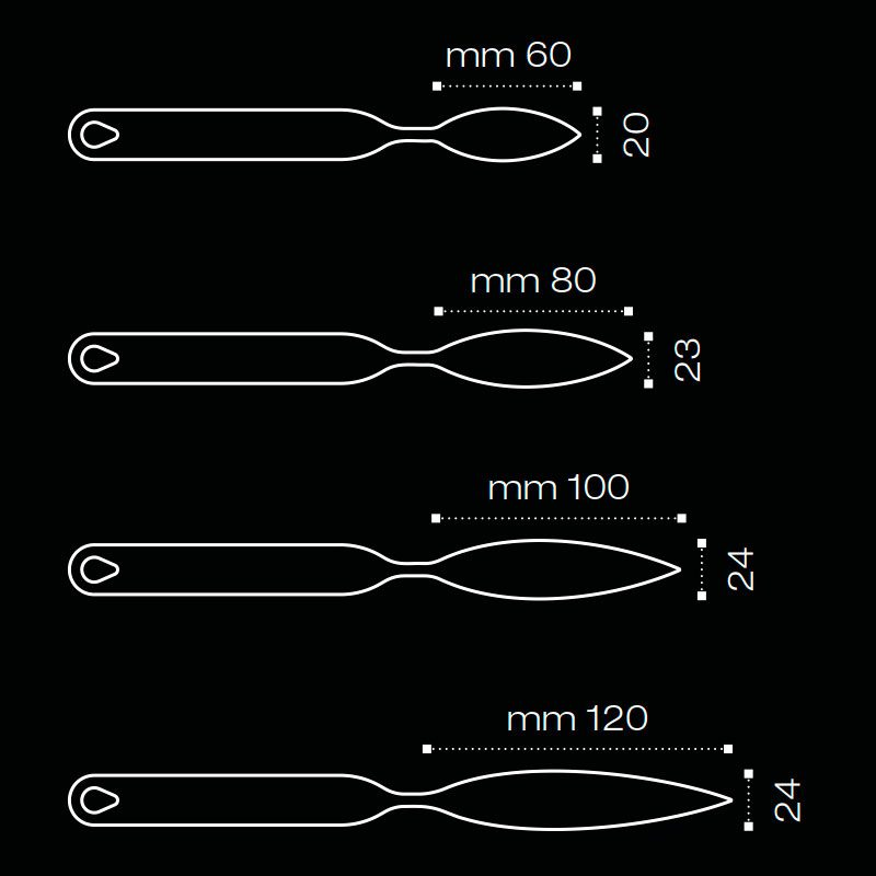 FLYCHOC herramienta en Inox plume XL 120x24 mm