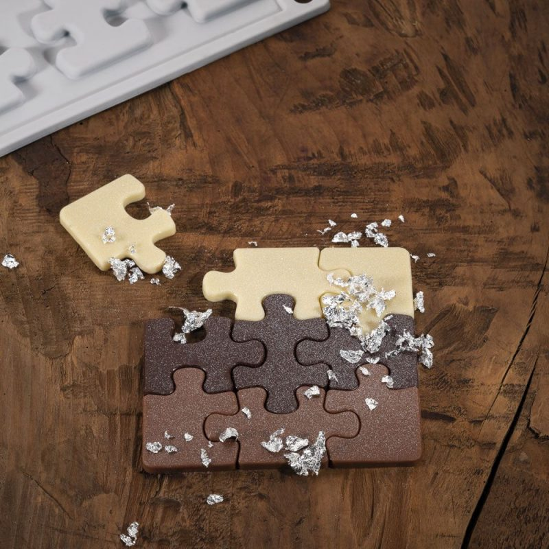 Molde silicona Puzzle Pavoni Gourmand GG018