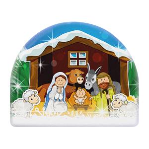 Placa de chocolate chocolate con leche Sagrada Familia para decorar troncos y otras creaciones comestibles de Navidad Referencia: MD34951 Cantidad: 1 caja 24 dimension: cm L8xH6.5 GLUTEN FREE