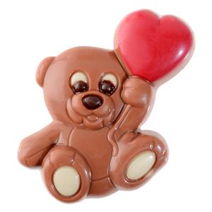Osito Con Corazón San Valentin de chocolate Modecor 34608