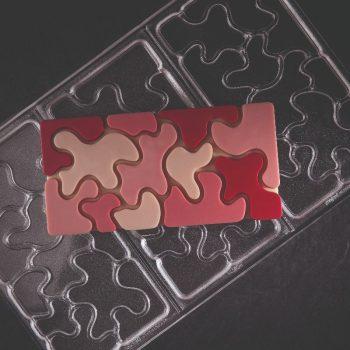 Molde de policarbonato tableta chocolate Camouflage de Pavoni PC5011FR
