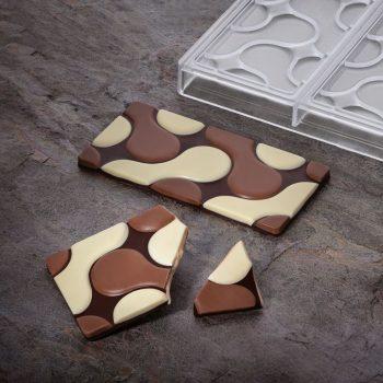 Molde de policarbonato tableta chocolate Flow de PAvoni PC5007 2