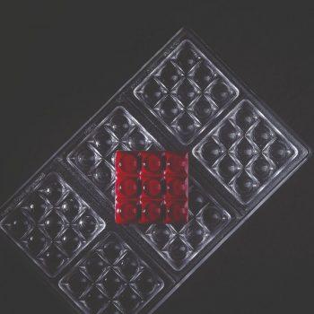 Molde de policarbonato tableta chocolate Mini Bricks de Pavoni PC5013FR
