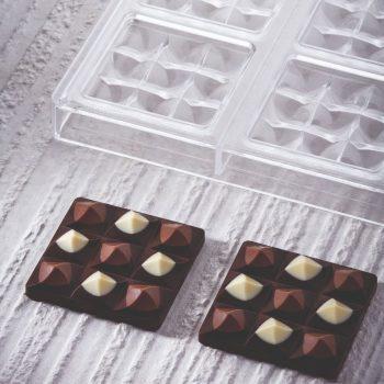 Molde de policarbonato tableta chocolate Mini Moulin de Pavoni PC5014FR