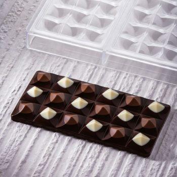 Molde de policarbonato tableta chocolate Moulin de Pavoni PC5009FR