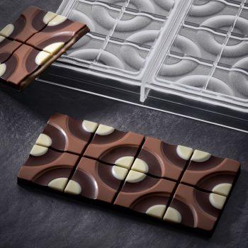 Molde de policarbonato tableta chocolate Target de Pavoni PC5008FR