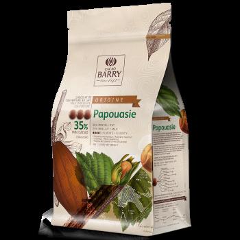 Cobertura de chocolate con leche Orígenes Papouasie 36% Barry 1 kg