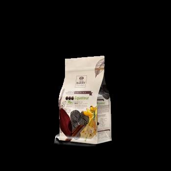 Cobertura de chocolate negro Orígenes Ecuador 76% Barry 1 kg 2