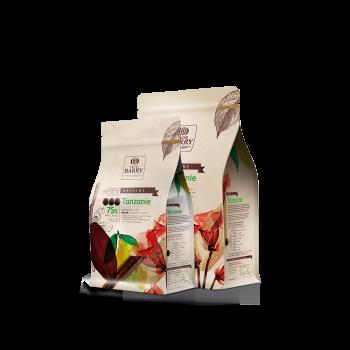 Cobertura de chocolate negro Orígenes Tanzanie 75% Barry 1 kg 4